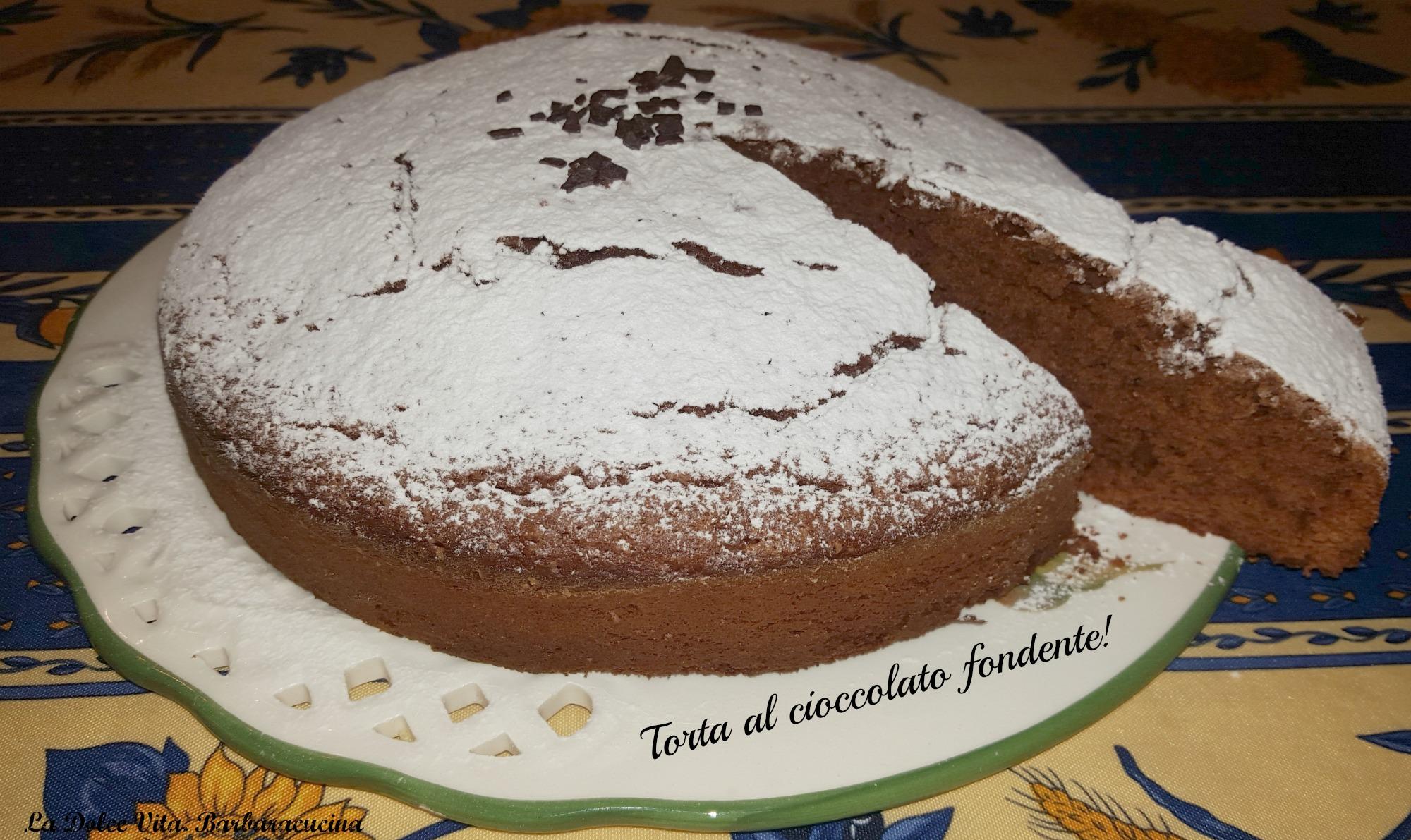 torta al cioccolato fondente 2