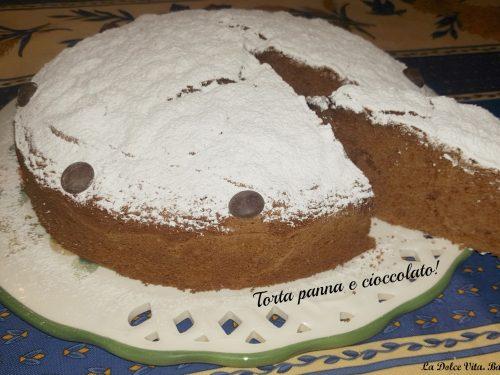 Torta panna e cioccolato!
