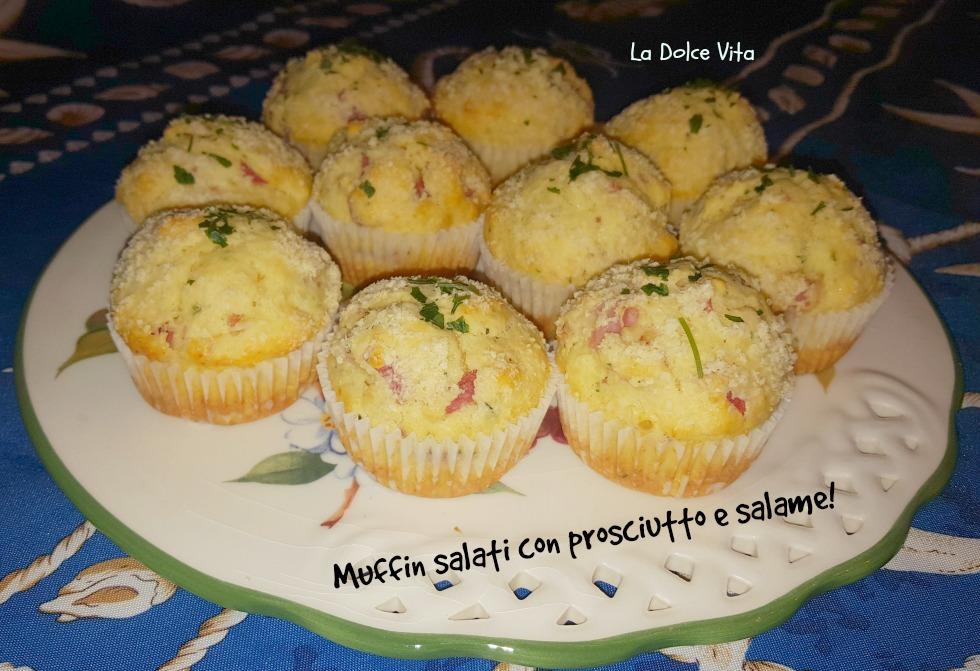 Muffin salati con prosciutto e salame!