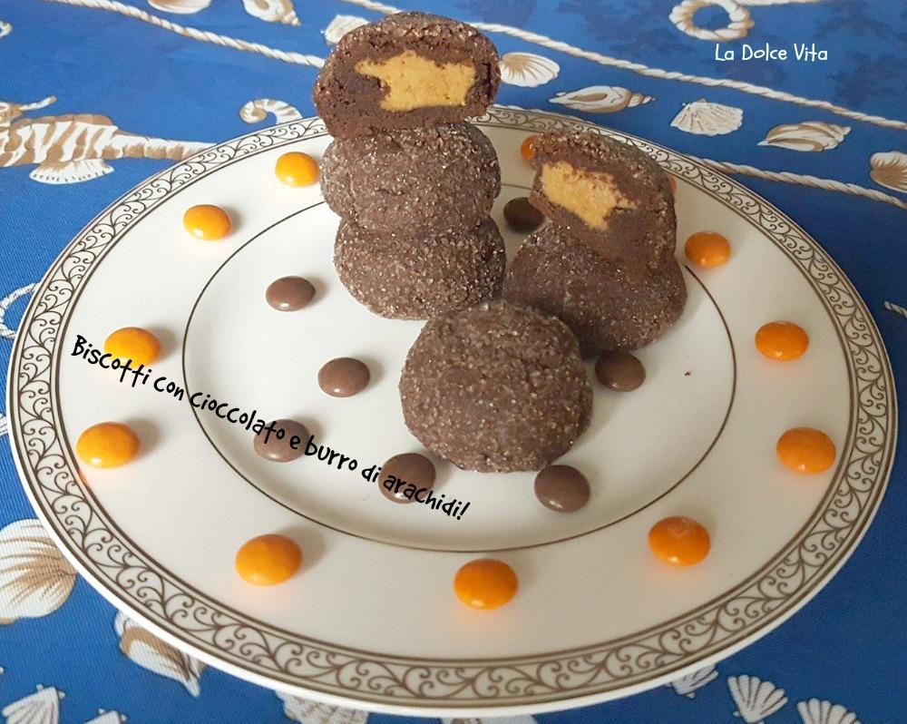 Biscotti con cioccolato e burro di arachidi!