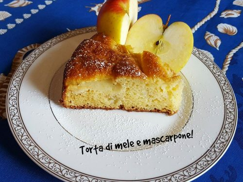 Torta di mele e mascarpone sofficissima!