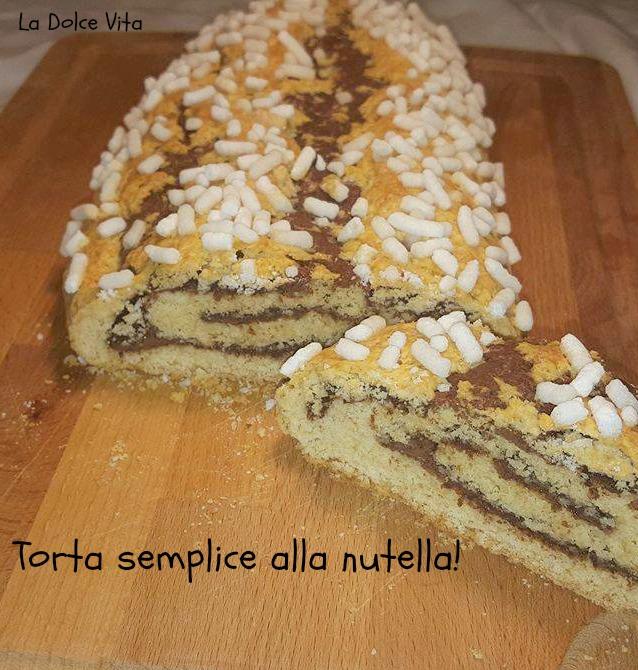 Top Torta semplice alla nutella per la colazione | La Dolce Vita MZ94