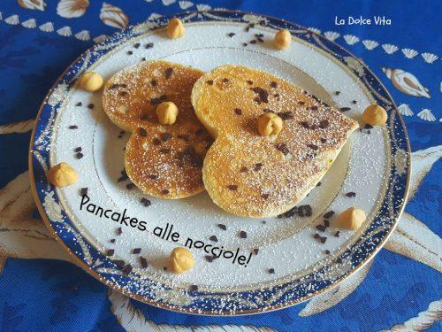 Pancakes alle nocciole con nutella