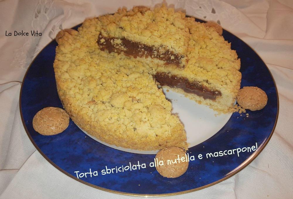 torta sbriciolata alla nutella e mascarpone 3