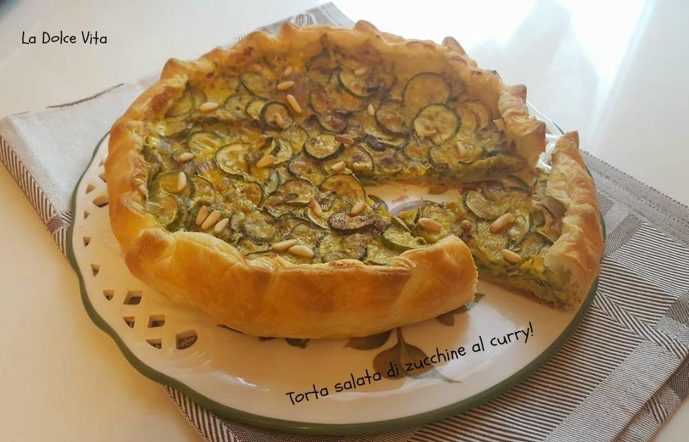 torta salata di zucchine al curry 2