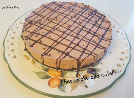 Cheesecake alla nutella senza cottura!