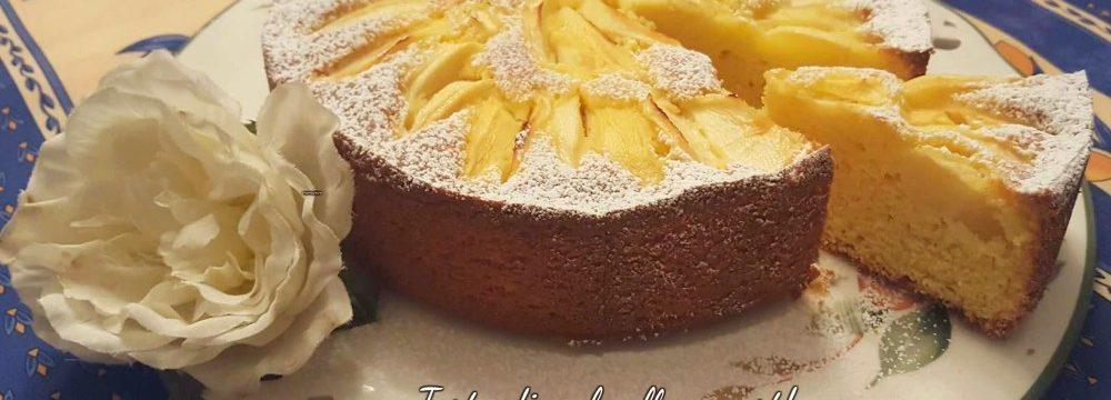 Torta di mele allo yogurt con farina di mais!