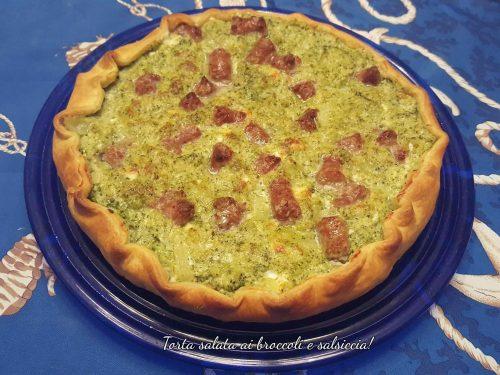 Torta salata con broccoli e salsiccia!