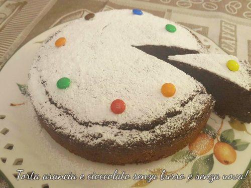 Torta arancia e cioccolato senza burro e senza uova!