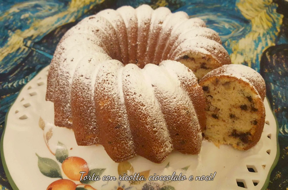 torta con ricotta, cioccolato e noci 1