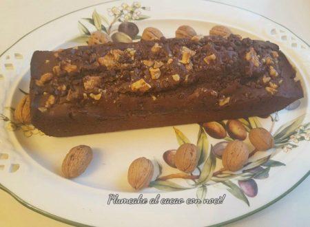 Plumcake al cacao con le noci, soffice!