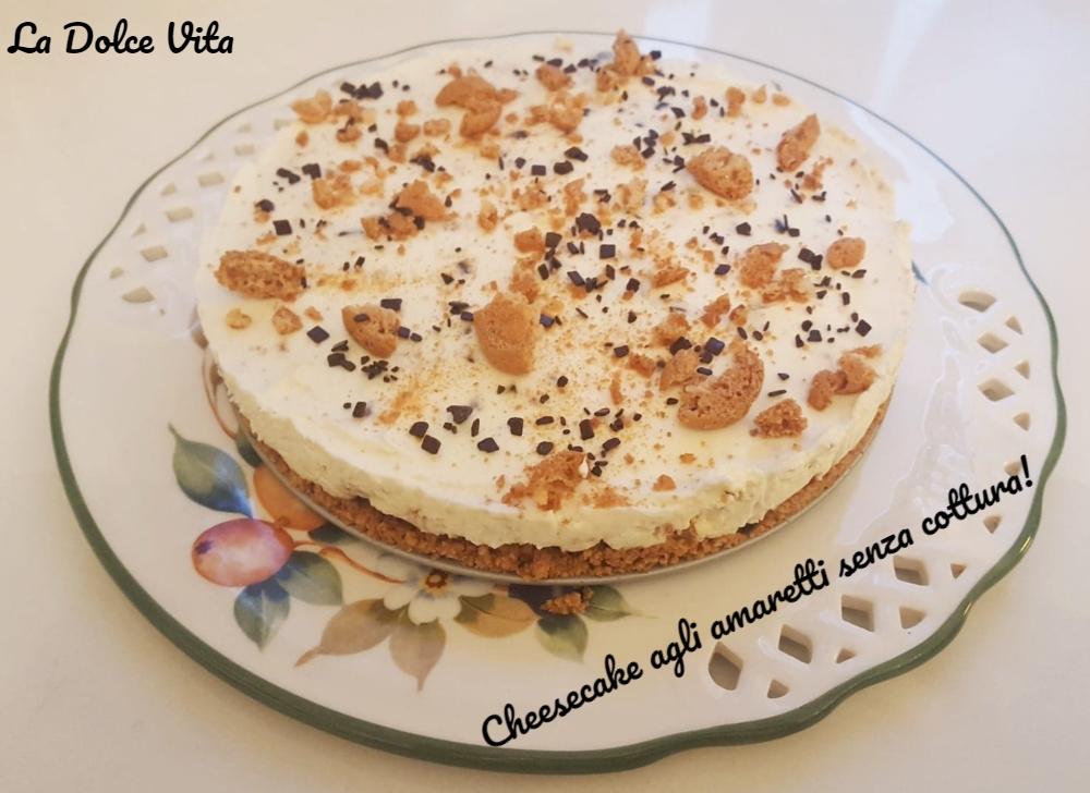 Cheesecake agli amaretti 1