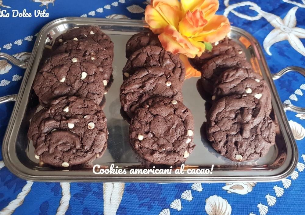 Cookies americani al cacao super golosi!