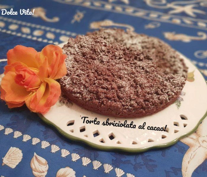 Torta sbriciolata al cacao doppio strato!