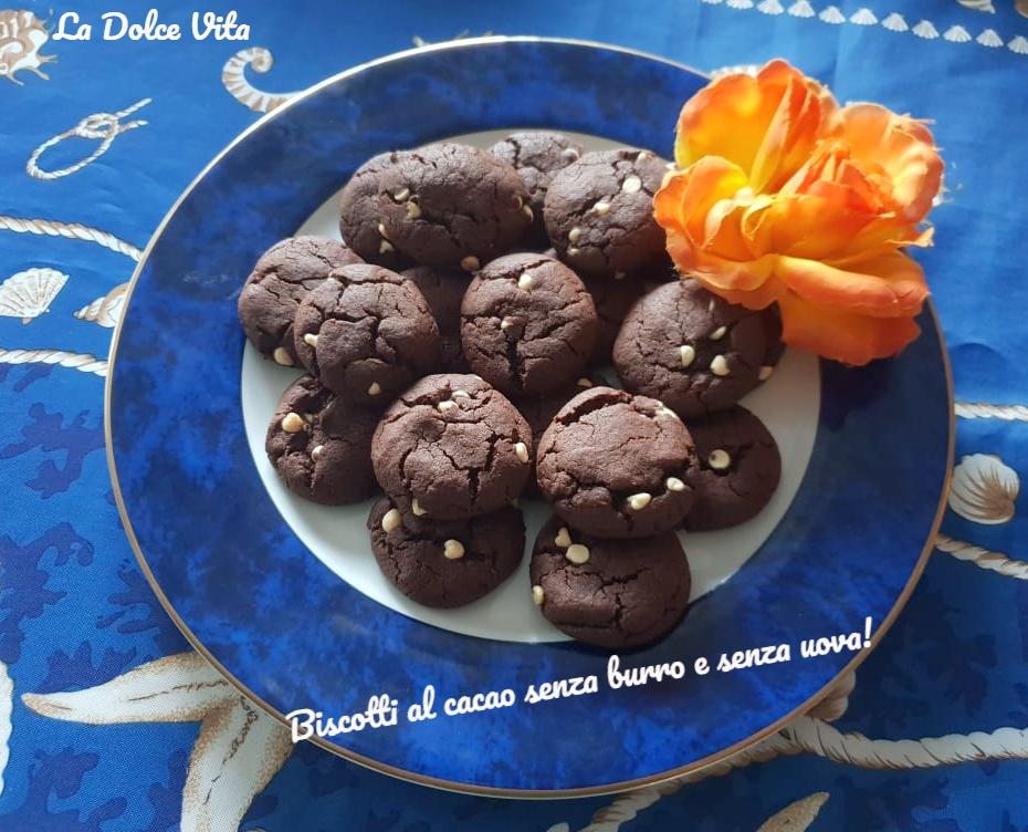 biscotti al cacao senza burro e senza uova 3