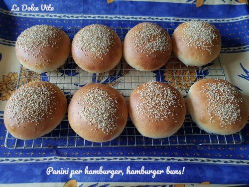 Panini per hamburger, hamburger buns!