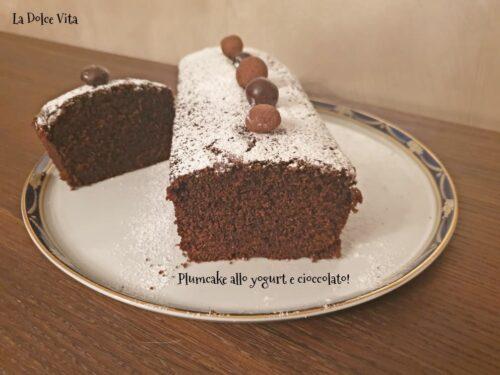 Plumcake allo yogurt e cioccolato fondente!