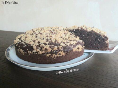 Coffee cake al cacao con briciole alla cannella!