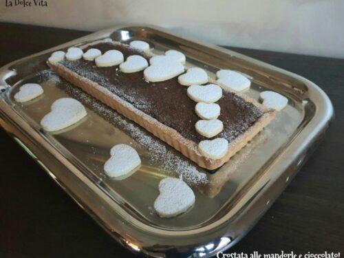 Crostata alle mandorle e cioccolato!