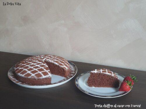 Torta chiffon al cacao con 2 uova sofficissima!