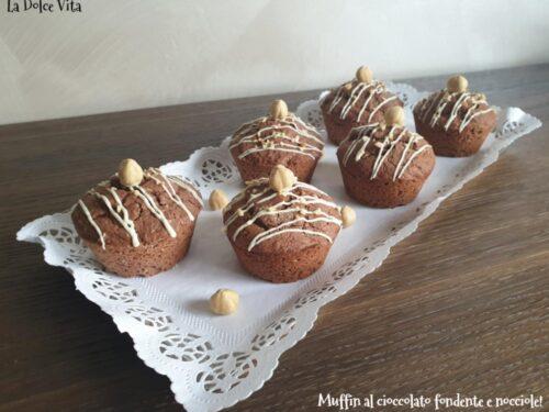 Muffin al cioccolato fondente e nocciole!