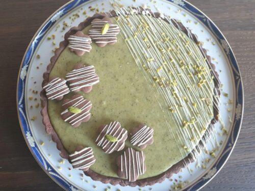 Crostata di frolla al cacao con pistacchi!