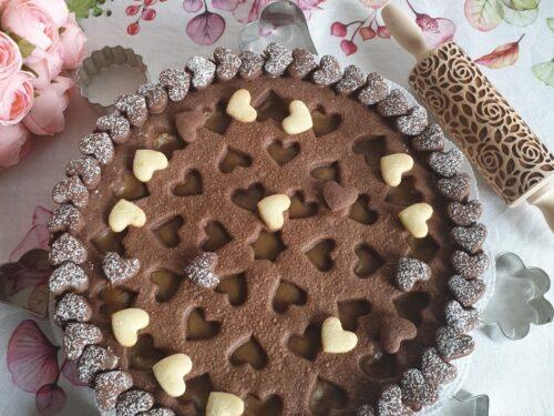 Crostata con crema al caffè e frolla al cacao!