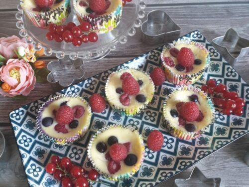 Mini cheesecake ai frutti di bosco super cremose