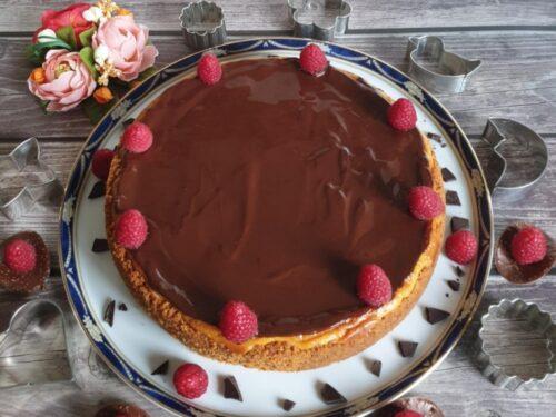 Cheesecake al cioccolato e lamponi doppio strato!