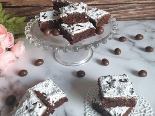 Brownies al cioccolato fondente con cacao!