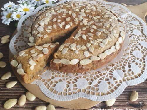 Crostata con farina di grano duro e marmellata di mirtilli