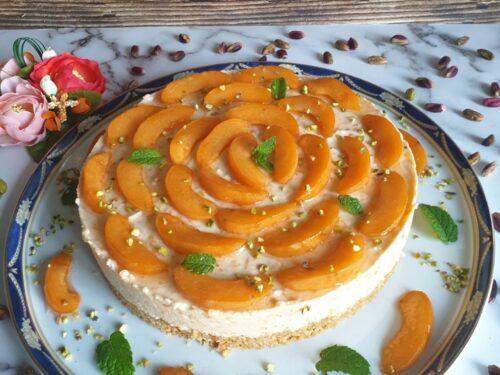 Cheesecake alle albicocche ricetta senza cottura!