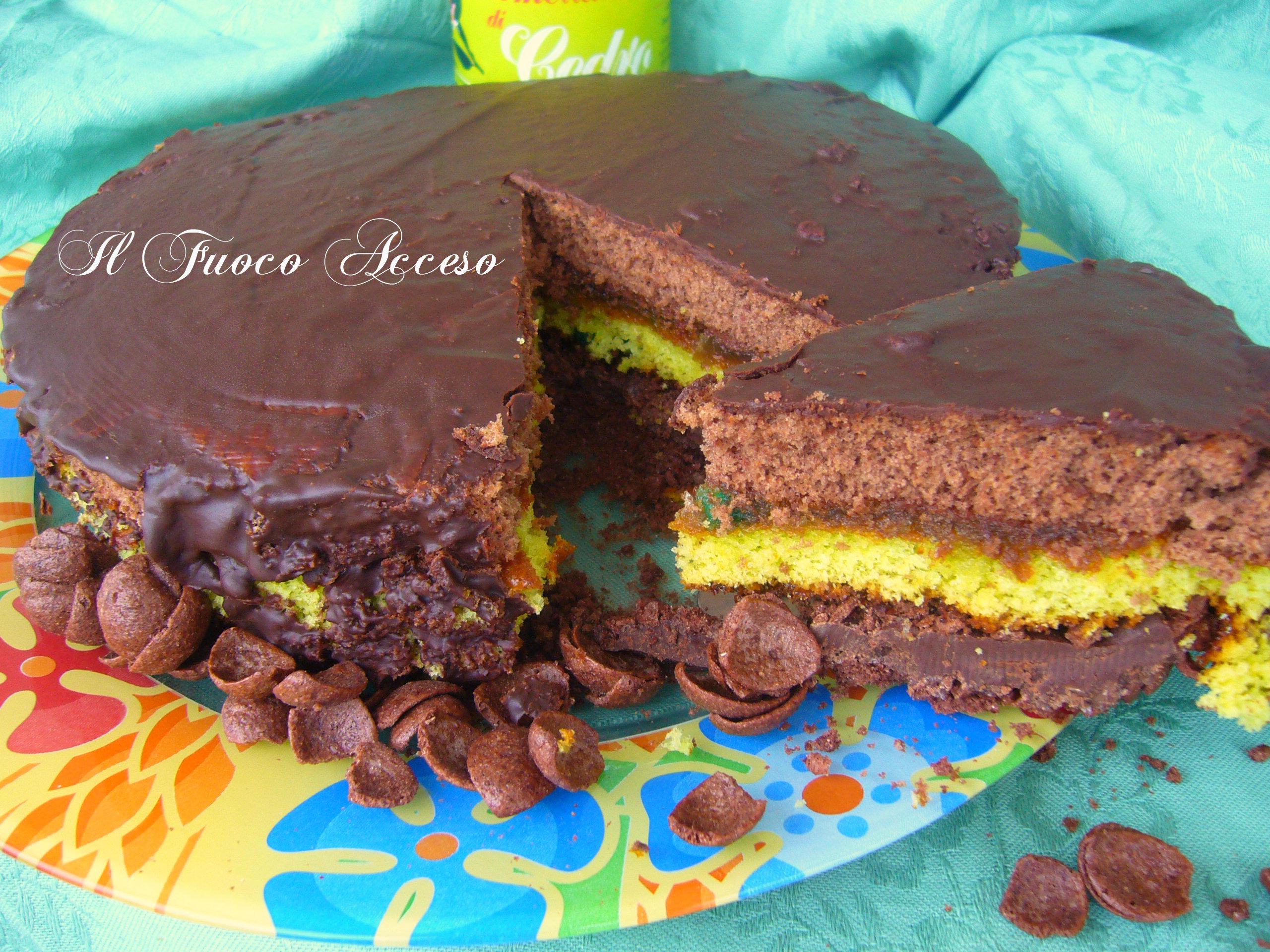 Torta cereali cedro e cioccolato