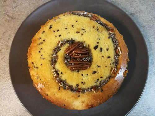 Torta di mele, noci pecan & gruè di cacao