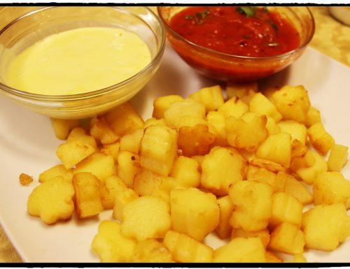 Patate a la brava con salsa piccante e salsa aioli