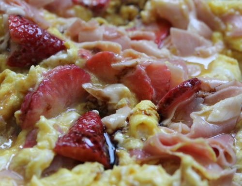 #pranzoinufficio Frittata di fragole e prosciutto cotto