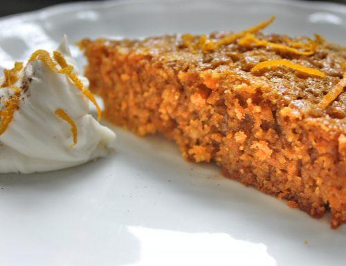 Torta di carote con crema di formaggio
