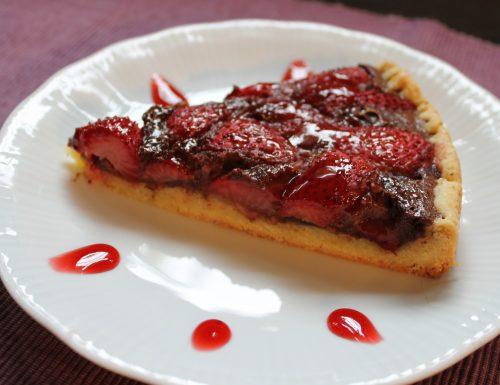 Crostata di fragole e cioccolato
