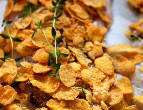 Filetto di scorfano in crosta di cornflakes