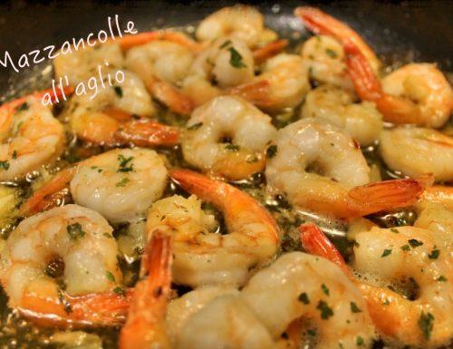 Mazzancolle all'aglio