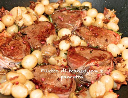 Filetto di manzo all'uva e pancetta