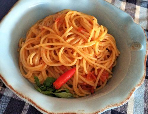 Spaghetti piccanti leggeri