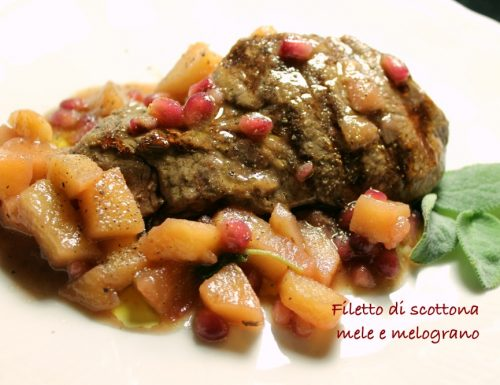 Filetto di scottona alle mele e melograno