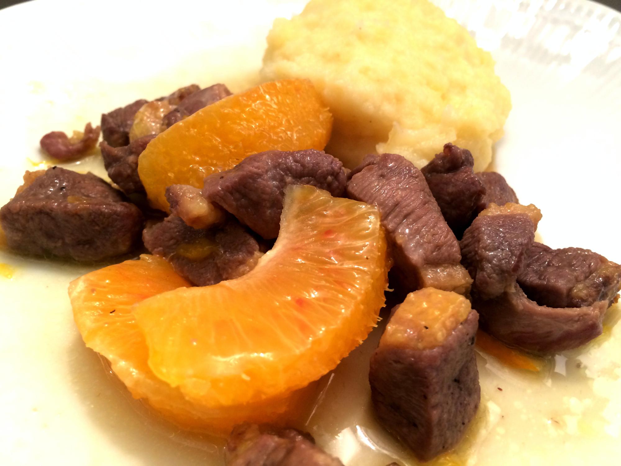 Bocconcini di anatra all'arancia