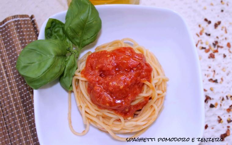 Spaghetti pomodorini e zenzero