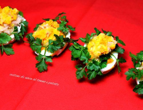 Cestini tonno patate e uova
