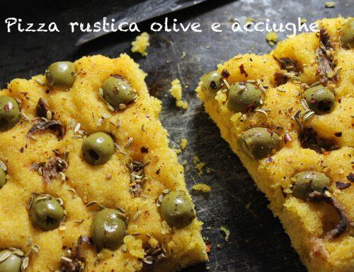 Pizza rustica olive e acciughe