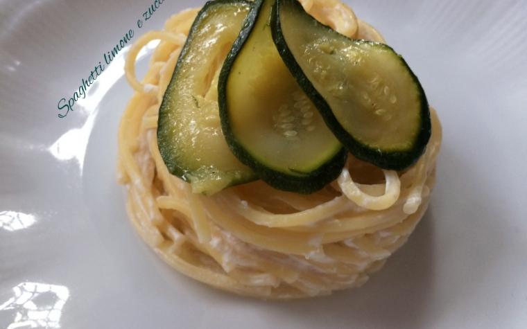 Spaghetti limone e zucchine