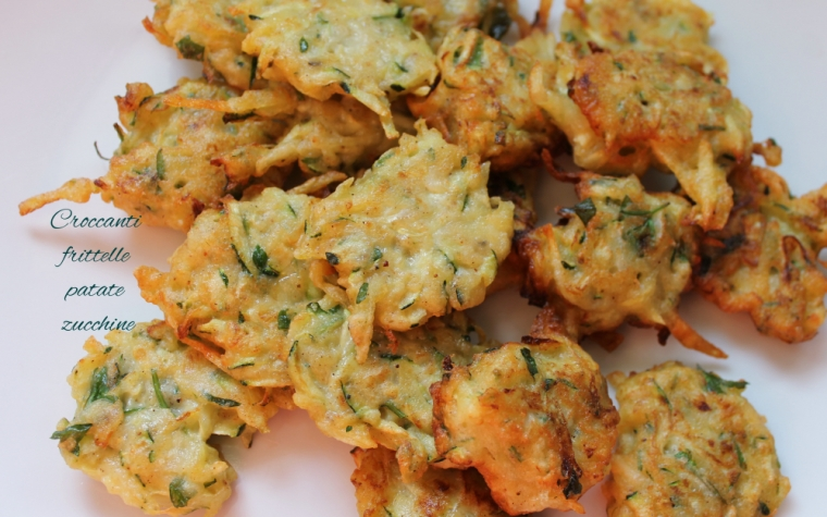 Croccanti frittelle patate e zucchine
