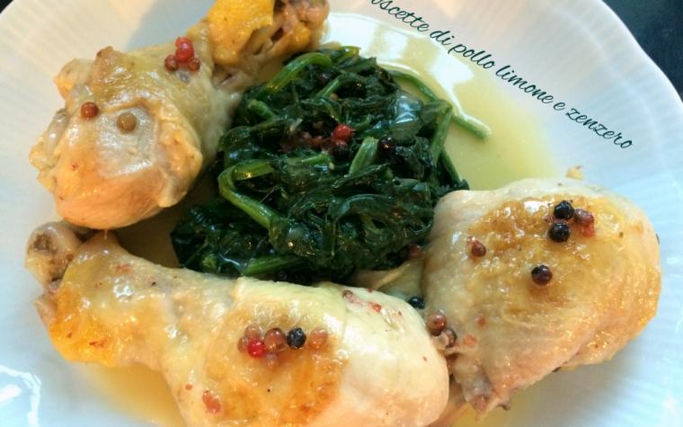 Coscette di pollo allo zenzero e limone